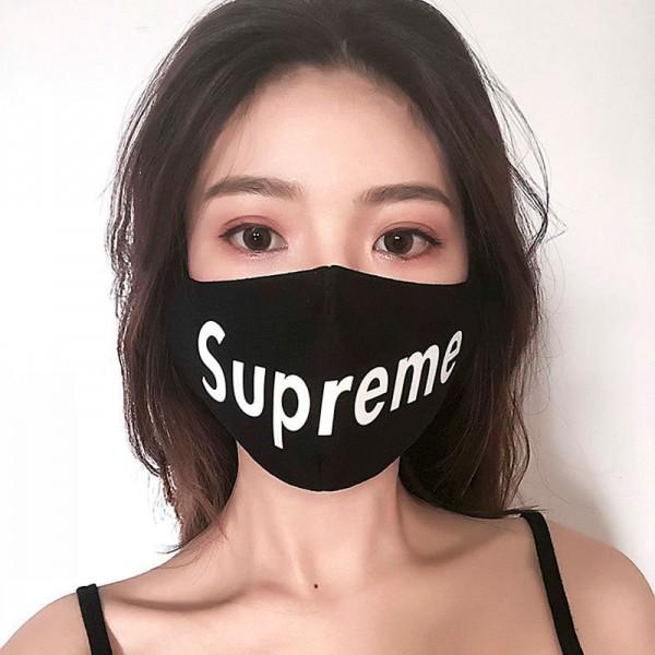 シュプリームハイブランドマスク布洗えるマスクsupreme おしゃれ 通学子供用 大人用 紫外線対策 男女兼用マスク繰り返し使える 花粉対策 風邪対策 咳