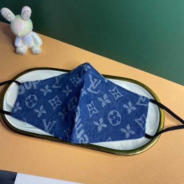 ヴィトンモノグラム手作り布マスク 洗えるマスクUVカット抗ウイルスハイブランドマスクパロディmask やわらか 耳が痛くない
