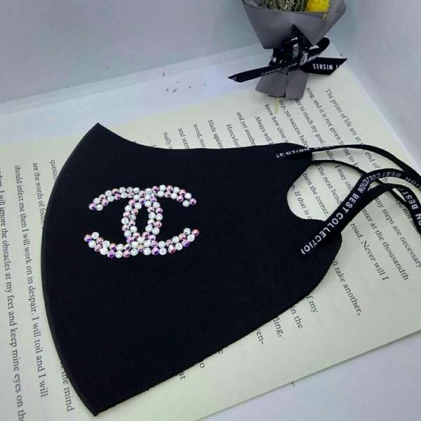 手作り Chanel  立体縫製  マスク コロナ レディース ファッション ラインストーン  3D立体マスク シャネル 洗える 日本製標準 子供/大人用 メンズ  耳を痛めず快適 通気性良い