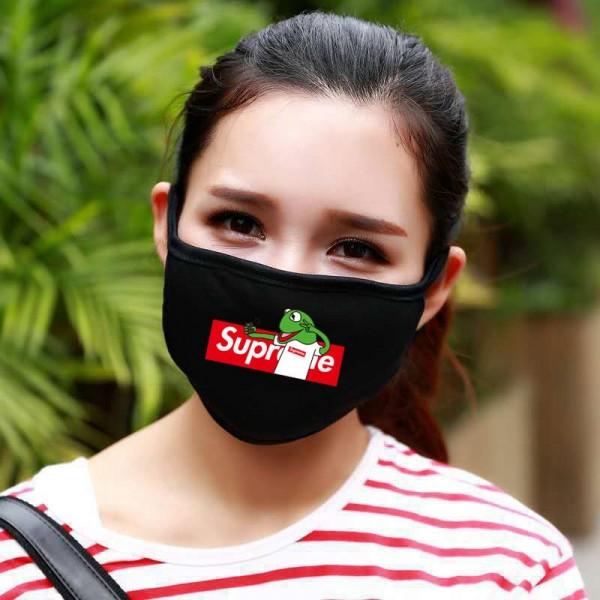 ハイブランド シュプリームアニメコラボマスク子供/大人用メンズレディースSupremeマスク夏専用 速乾 薄手 UV対策 伸縮性が高く 飛沫感染予防 おしゃれ 快適マスク洗える