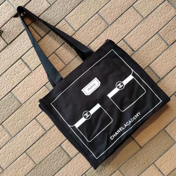 ハイブランドchanelバッグ  キャンバスバッグ 女性バッグ 全試合ショルダーバッグ シャネルバッグ携帯用ショッピングバッグ ブラックキャンバスバッグ 大容量 激安 黑