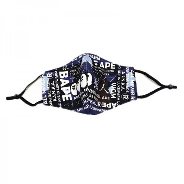新品 bapeマスク薄型春夏用布マスク洗える 色 性格 メンズ レディース落書きマスク通気性が良い 学生/大人用 花粉症 飛沫感染予防ファッショントレンド純綿 調整可能 耳に優しい 激安 送料無料 在庫有り