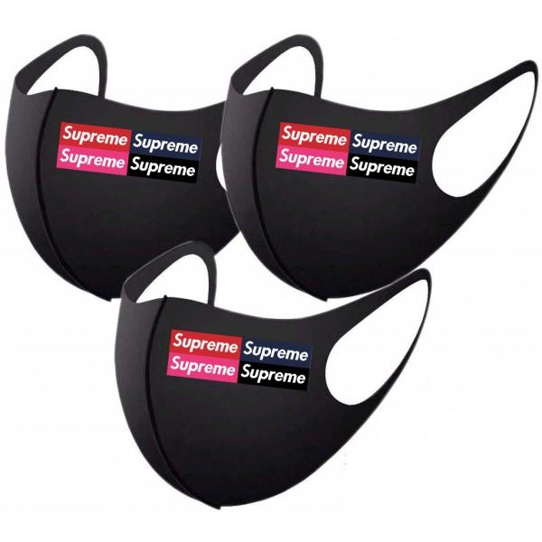 激安マスクブランドsupremeマスク黒 夏専用マスク 伸縮性が高く 大人/子供サイズ おしゃれマスク通販 立体マスク 花粉症 UVカットウィルス対策 防塵マスク男女兼用 在庫あり