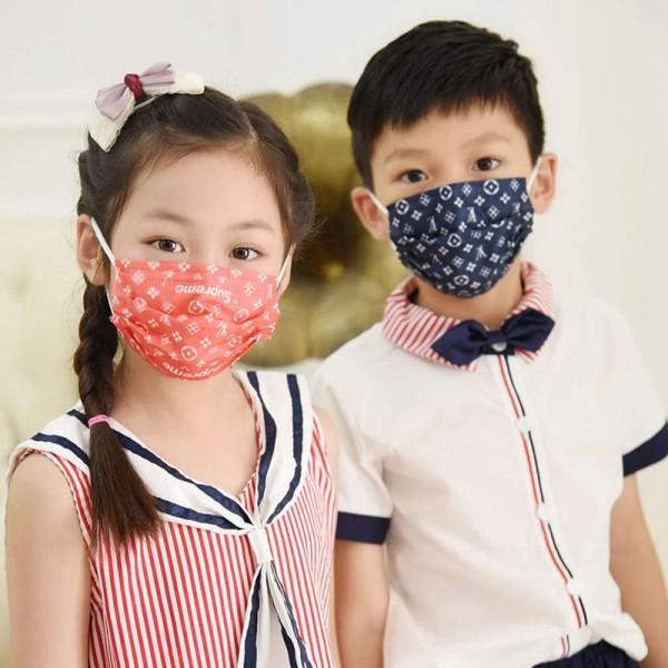 子供用 Lv supreme グッチ ハイブランドマスク 使い捨てマスク  耳が痛くない ウィルス対策 ほこり防止 おしゃれ 多機能 ルイヴィトン Gucci 快適マスク UVカット 通気性が良い ストリートファッション