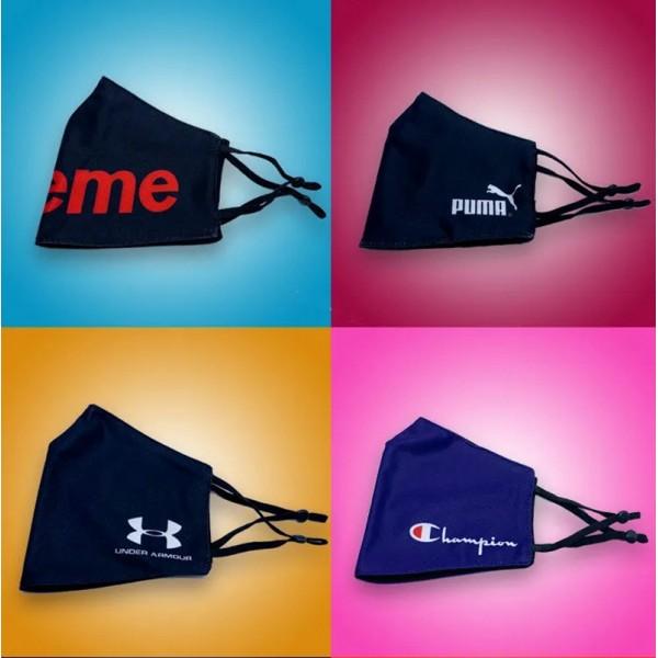 Supreme Pumaブランドパロディマスク Champion Adidas 布製 大人 おしゃれ 布マスク Nike 洗い方 洗える メンズ レディース FILA MASKS 調整でき 高品質 フェイスマスク ほこり 花粉 コロナ 咳