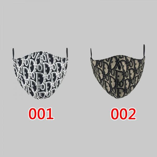 1Dior/ディオールoblique 手作り布マスク 秋冬防寒マスク 洗えるメンズ アパレルブランド マスクブランド 通販