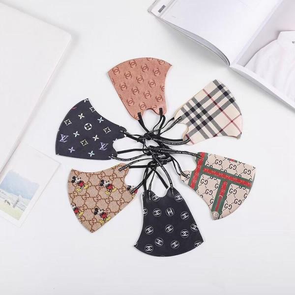 Gucci/LVハイブランドマスクパロディ冬偽物 chanel/burberryコロナ黒 洗える服 のブランド マスク