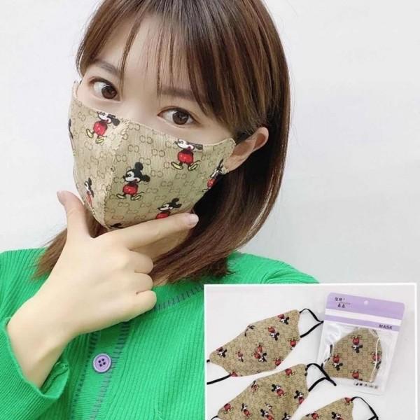 Gucci/グッチ ブランドマスク 風邪対策 冷え かぜ コピー 女性 おしゃれマスク かっこいい ミッキー 可愛 ウィルスマスク洗える レディース 子供マスク3D立体 フェイスマスク キッズ