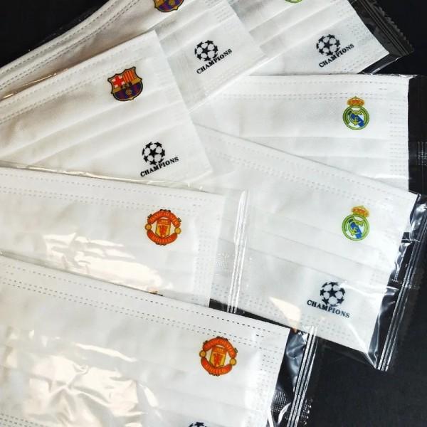 CFAサッカークラブ不織布マスクブランドファッション潮流 柔らかい使い捨てマスク通気性がよい防護 防塵 コロナ対策マスク大人サイズ