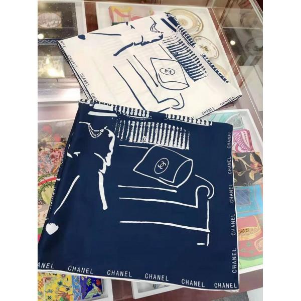 シャネルシルクスカーフブランドコピーブランド激安ファッションマフラーレディース絹ソフトスカーフ柔らかいで肌に優しいショール