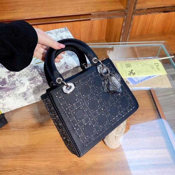 ディオールレディースファッションハンドバッグ高級ブランド高品質な手提げキラキラカナベヤバッグおしゃれ斜め掛けカバン