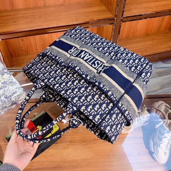 ディオールハイブランドバッグレディース向け大きめ大容量ハンドバッグDior経典ロゴカバンシンプルでスタイリッシュバッグ