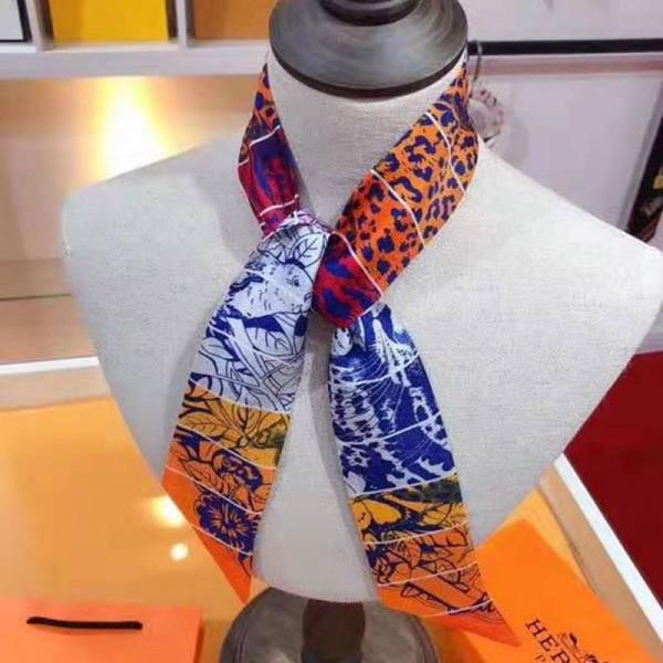 エルメスハイブランドスカーフレディースおしゃれレインボースカーフ大人可愛いマフラーHERMES春夏秋冬適用スカーフ