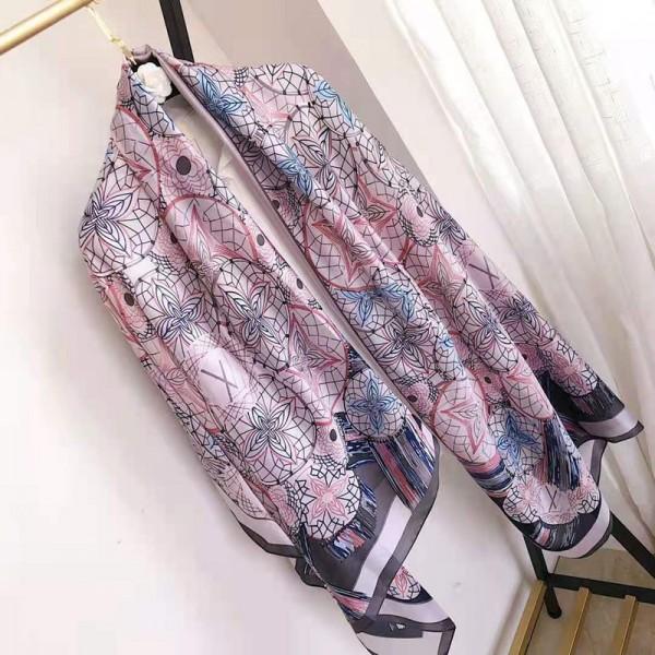ルイヴィトンハイブランドスカーフ新作シルク長いスカーフ女性向けスタイリッシュアイテム大人っぽいショールプレゼントオススメ