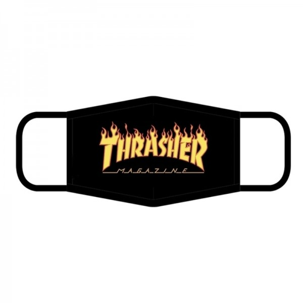 Thrasher ブランド洗えるマスクフレアー3 D 3層フィルター綿プリントロゴマスクおしゃれ飛沫 ウイルス花粉症対策マスクカップル調節可能マスク潮