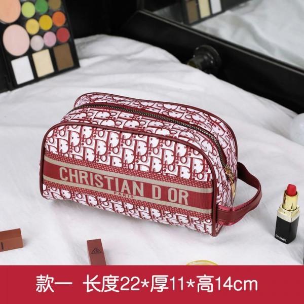 ディオールブランドレディースおしゃれ化粧ポーチDior定番プリント大きめサイズ小さめサイズ収納バッグ高品質な携帯外出 化粧バッグ