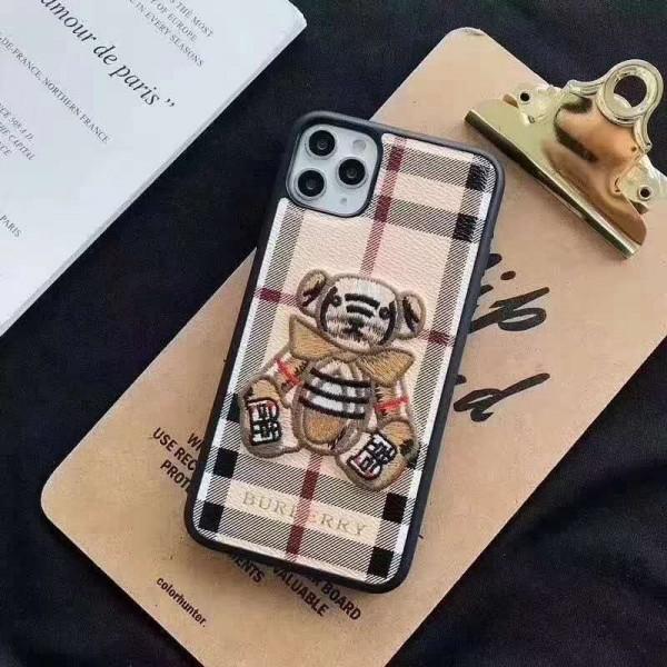 BURBERRY/バーバリー 女性向け iphone 12/12 mini/12 pro/12 pro maxケースファッション セレブ愛用 iphone12 mini/11pro maxケース刺繍クマ柄 激安iphone 11/x/8/7スマホケース ブランド LINEで簡単にご注文可