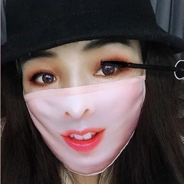 面白い赤い唇のマスク おしゃれ クリエイティブな個性マスク 子供用 大人用 男女兼用  耳が痛くない UVカット薄型夏用布マスクウィルス対策 飛沫感染予防 洗って 繰り返し使える