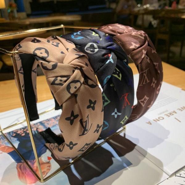 ハイブランドルイヴィトン リボン風カチューシャ バンダナヘアバンド LV レディースファッション通販 ヘアアクセサリー 髪飾り 可愛い 蝶々結び 滑り止め