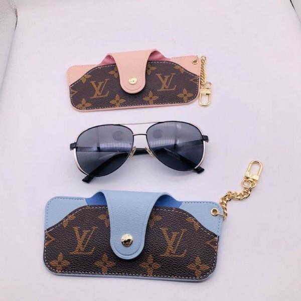 Louis Vuittonルイヴィトン風 ガネケース エスカル高級革製品レザーメガネケースサングラスケース 封筒形状 メンズ レディース ハイブランド 上質 めがねケース  小物入れ 金具 ユニセックス