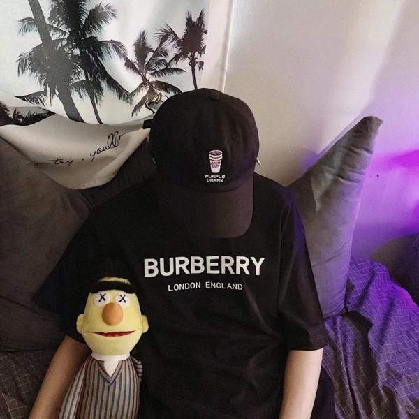 ハイブランド バーバリーTシャツ メンズ レディース 夏の半袖 綿 Tシャツ単色 カップルの服トレンド カジュアル クラシック 大人気 送料無料 気質 流行 burberryTシャツ