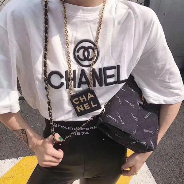ハイブランドシャネルTシャツレディース ファッション黒 白 半袖 Tシャツ 韓国風 大きいサイズ おしゃれ春夏 綿  全試合 CHANELロゴをプリントしたTシャツカジュアルト通勤 送料無料
