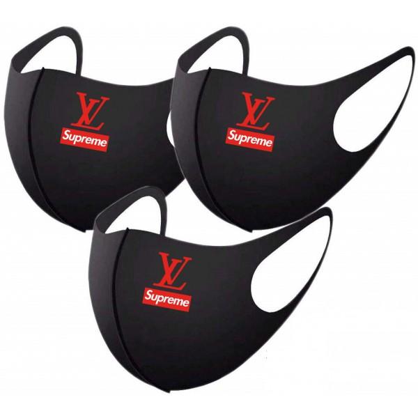 シュプリームヴィトンコラボマスク夏のマスク子供/大人用 メンズ レディース接触冷感 ファッションブランドマスク防風 防塵 抗菌 速乾 飛沫感染予防 UVカットsupreme LV マスク洗える