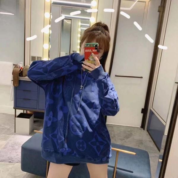 ルイヴィトン ジャケット スーツスウェット 帽子付き 日焼け防止 女性服 キッズブル  Lv ギャラクシー ブルゾン おしゃれ 韓国 大きいサイズ  100%綿 トップス 人気 高品質