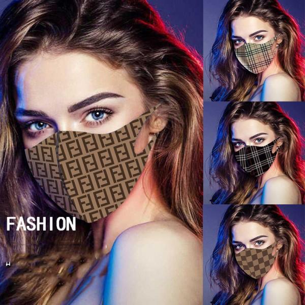 FENDI立体縫製 Play マスク ブランド風  burberry マスク 大人用 男女兼用 薄い 接触冷感  防塵 マスク通販 グッチ evisu フェンディマスク 洗える 在庫あり 飛沫感染予防  紫外線対策 風邪対策
