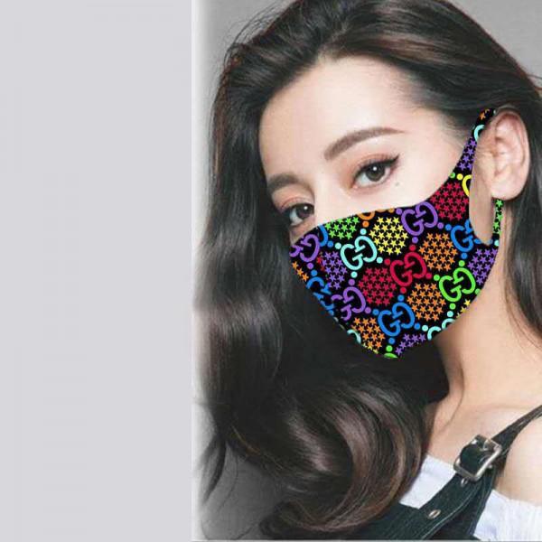 3D立体マスク パロディマスク グッチ Givenchy シャネル 通気性が良い 在庫あり ファッション 飛沫感染予防 繰り返し使える ハイブランドマスク レギュラーサイズ 抗菌 防臭 フェイスマスク