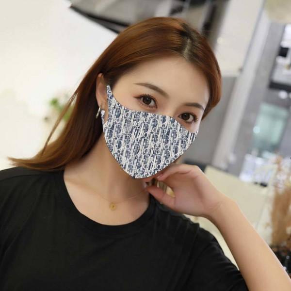 Dior ハイブランドマスク ファッション  耳が痛くない 桜柄 繰り返し使える 激安 飛沫感染予防 コロナウェルス対策 ディオール 伸縮性が高く 立体縫製  メンズ レデイーズ ほこり防止