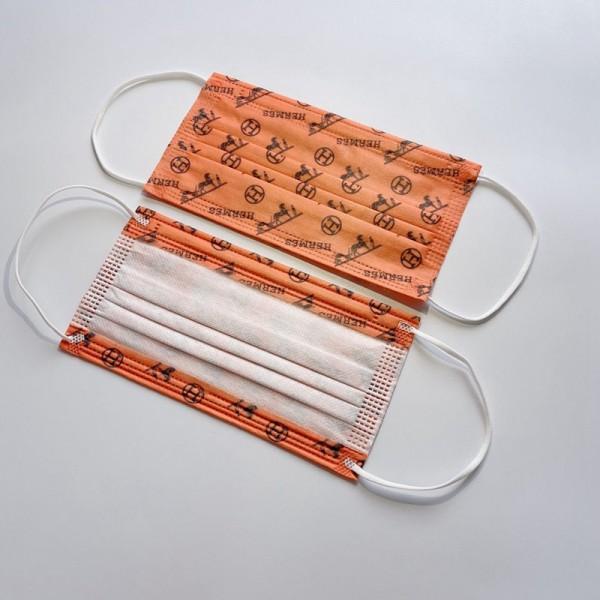 ハイブランドHermes/エルメスマスク花粉 ウイルス対策 メンズ 高品質 3層フィルターマスク 在庫あり激安 大人用 子供用 レディース 不織布 衛生マスク 使い捨てマスク 通学 通勤 ファッションマスク