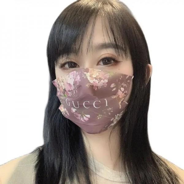 gucci 小顔 高級ブランドマスクファッション サージカルマスク 使い捨て 個包装 メルトブローン 不織布マスク コピー ピンク 使い捨てマスク 在庫あり PM2.5対策 98%カット 抗ウイルス