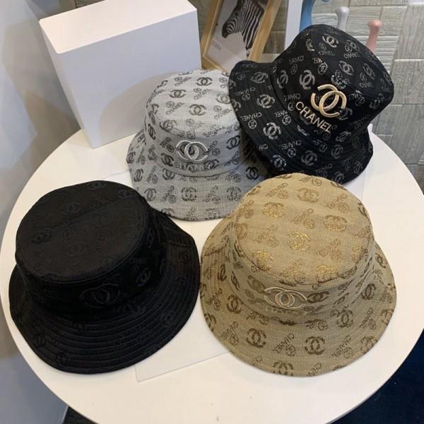 シャネル 魚師の帽子ブランド オシャレ刺繍logo付きハットChanel 日焼け止めカジュアルキャップ ファッション カップル向け帽子