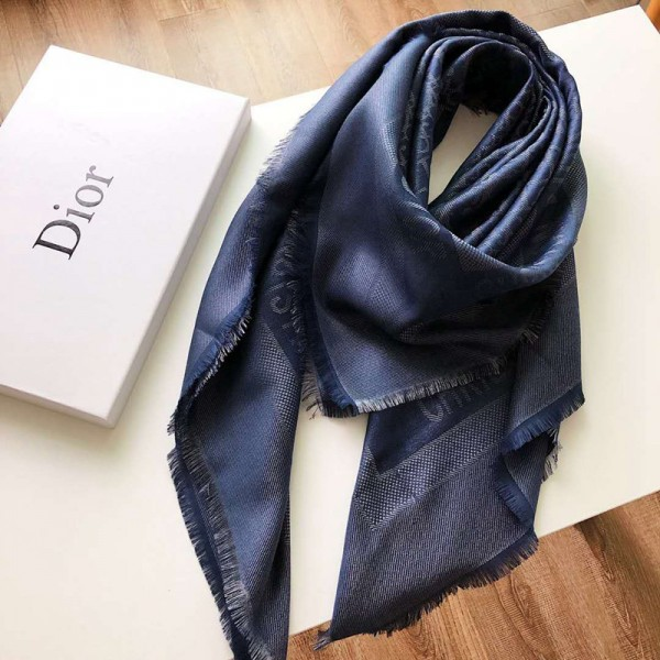 ディオール Dior マフラー 柔らかいソフト ショール レディース ファッション ブランド 経典 上品 シンプル スカーフ 人気ショール 女性向け おしゃれ マフラー 防寒 秋冬 暖かい