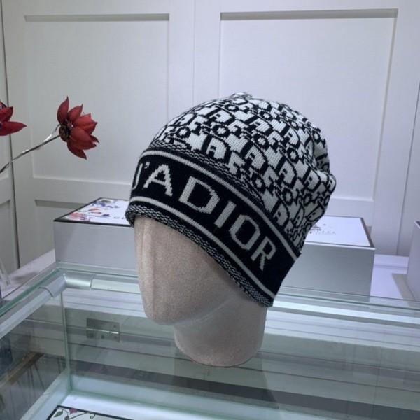 ハイブランドディオール 帽子暖かい 編み物ニットキャップ 秋冬 おしゃれレディースハットメンズ潮流 ファッションカジュアル帽子