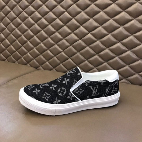 ルイヴィトンブランドメンズ 靴 ファッションクラシックプリント高品質シューズ カジュアル 快適 男性シューズ