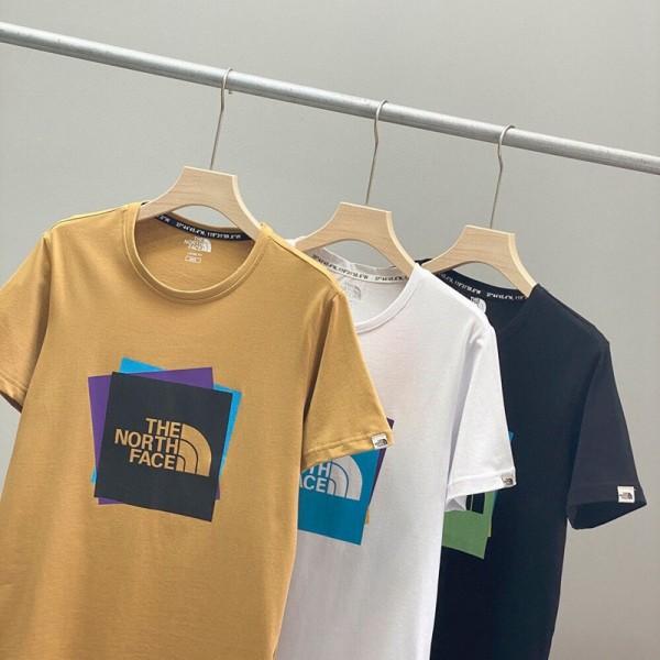 ザノースフェイスブランド半袖tシャツメンズファッションコットン快適tシャツシンプルカジュアル男女カップルtシャツ在庫あり