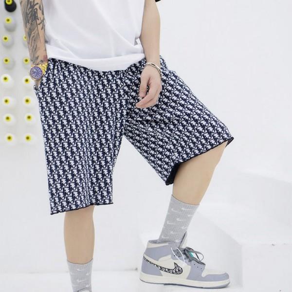 ディオールブランド半ズボンメンズファッションジャカードプリントDiorパンツ夏 薄手 氷の糸ハーフパンツカップル下着