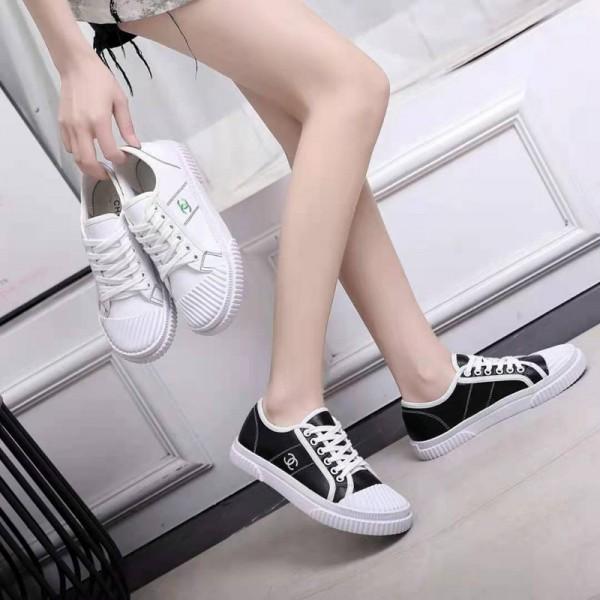 シャネルブランドスニーカー靴ファッションシンプル高品質 刺繡ロゴChanelシューズコーデ四季 着用可能 快適フラットスニーカー