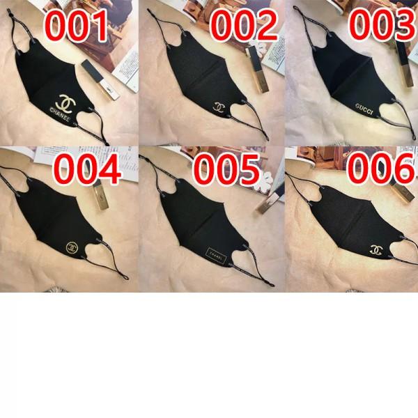 シャネルブランド氷の糸マスクグッチファッションブラック洗えるマスク接触冷感 夏 日焼け止め 飛沫 粉塵 コロナ対策マスク大人サイズ在庫あり