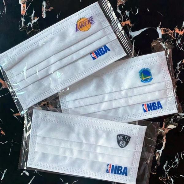 ブランドNBA不織布マスクバスケットボールチームファッション使い捨てマスク大人用 通気性がよいマスクシンプル個包装 防護 防塵コロナ対策マスク