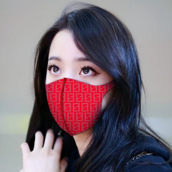 フェンディブランド洗えるマスクファッション3D立体 小顔フェイスマスク夏 通気性がよい繰り返しマスク飛沫ウィルス対策マスク男女兼用