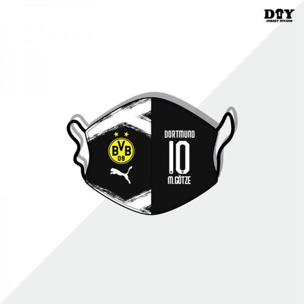 サッカークラブ洗えるマスクブランドパロディプーマボルシア・ドルトムント布マスク防塵 防護 抗菌 コロナ対策マスク男女兼用