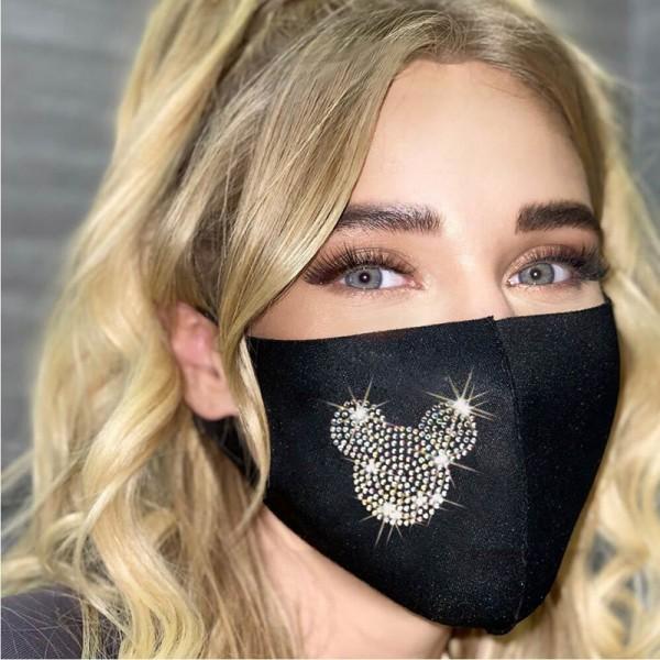 ハイブランド繰り返しマスク爽やかファッション洗えるマスクキラキラダイヤロゴ布マスク飛沫 粉塵 PM2.5 コロナ対策マスク大人