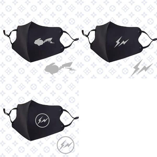 ブランドFashion fish繰り返しマスクブラック3d立体フェイスマスク調整可能 耳が痛くない洗えるマスク花粉症 飛沫 コロナ対策マスク