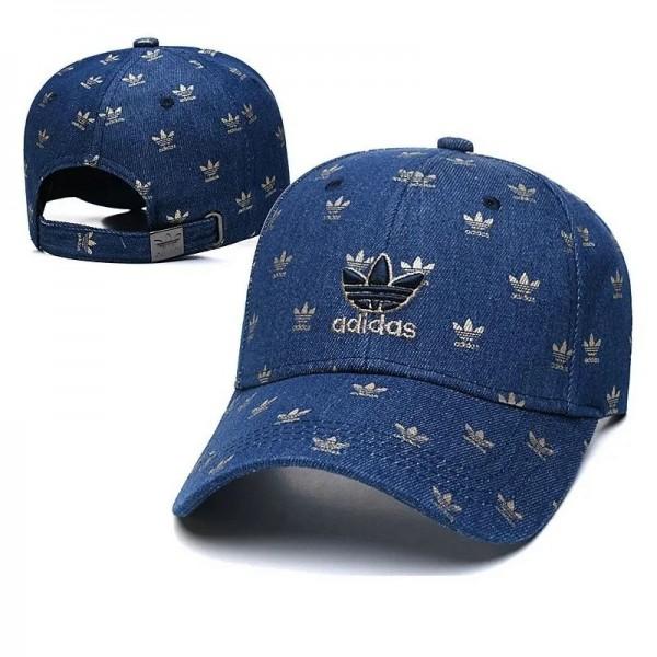 アディダスブランドファッション野球帽カジュアル日焼け止めジーンズ帽子シンプル夏秋 男女兼用ハンチング帽カップル帽子