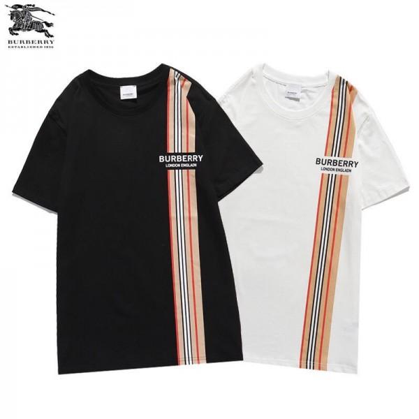 Burberry/バーバリーtシャツハイブランドミニマリズムTシャツ男女兼用ゆったりトップスシンプルでスタイリッシュ春夏 服 個性 気質 潮流T-shirt