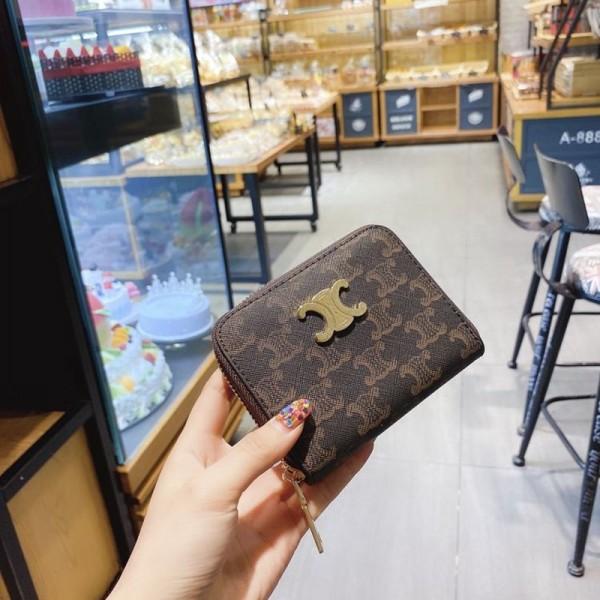 セリーヌファッションヴィンテージ財布ブランドCeline定番プリント財布レディース高品質な財布カードや名刺や小銭に入れバッグ