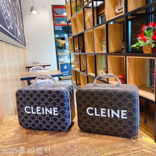 セリーヌハイブランドおしゃれ化粧バッグ2020ファッションヴィンテージプリント多機能収納バッグ潮流レディース手提げバッグ